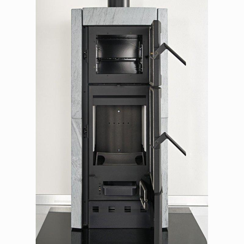 kaminofen la nordica ester forno mit backfach speckstein. Black Bedroom Furniture Sets. Home Design Ideas