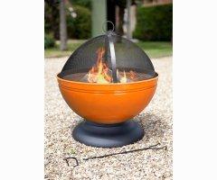Feuerschale Globe orange