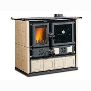 Küchenofen La Nordica Rosa Maiolica Cappuccino 6,5 kW