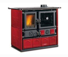 Küchenofen La Nordica Rosa Maiolica Bordeaux 6,5 kW